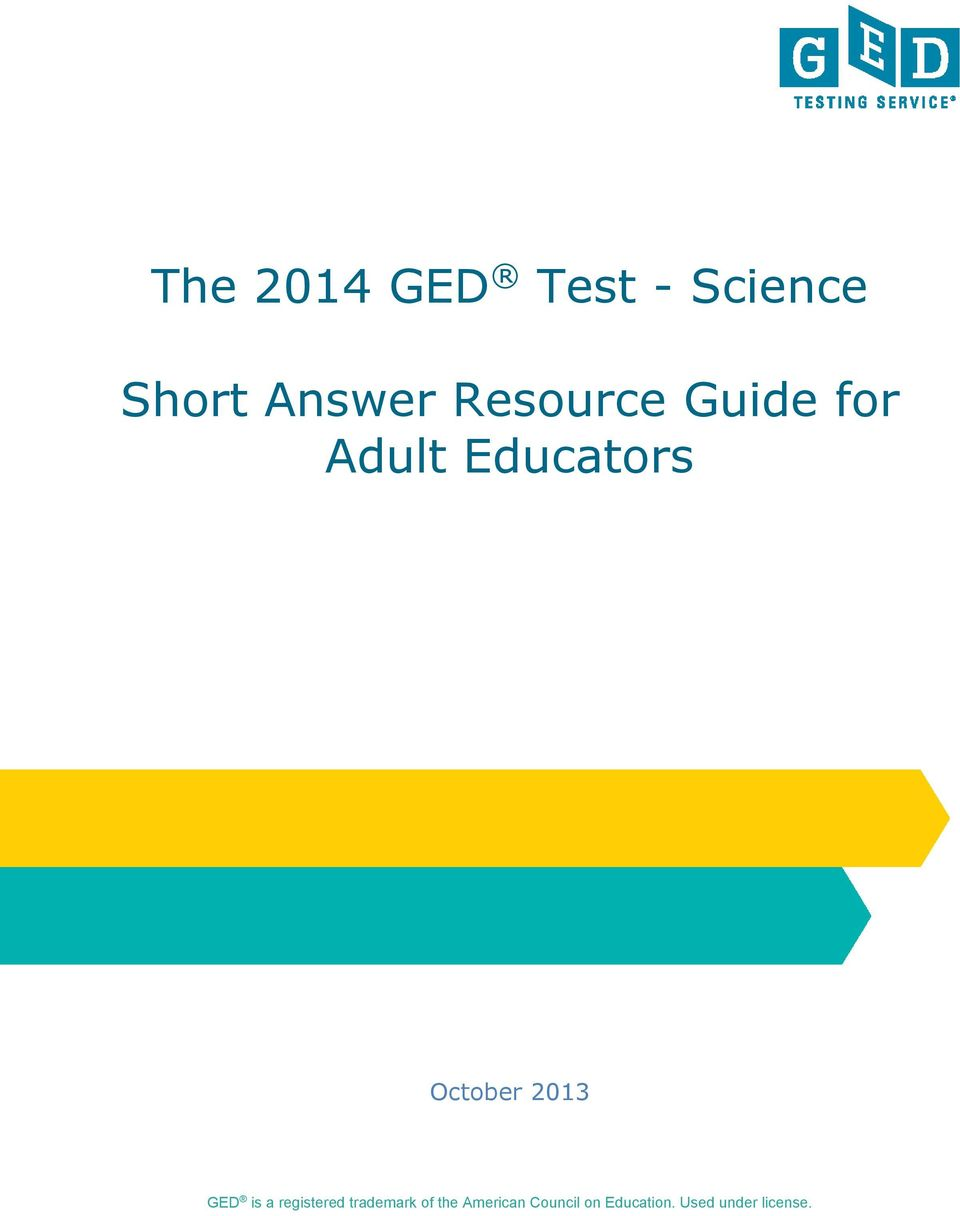 2013 GED is a registered trademark of the