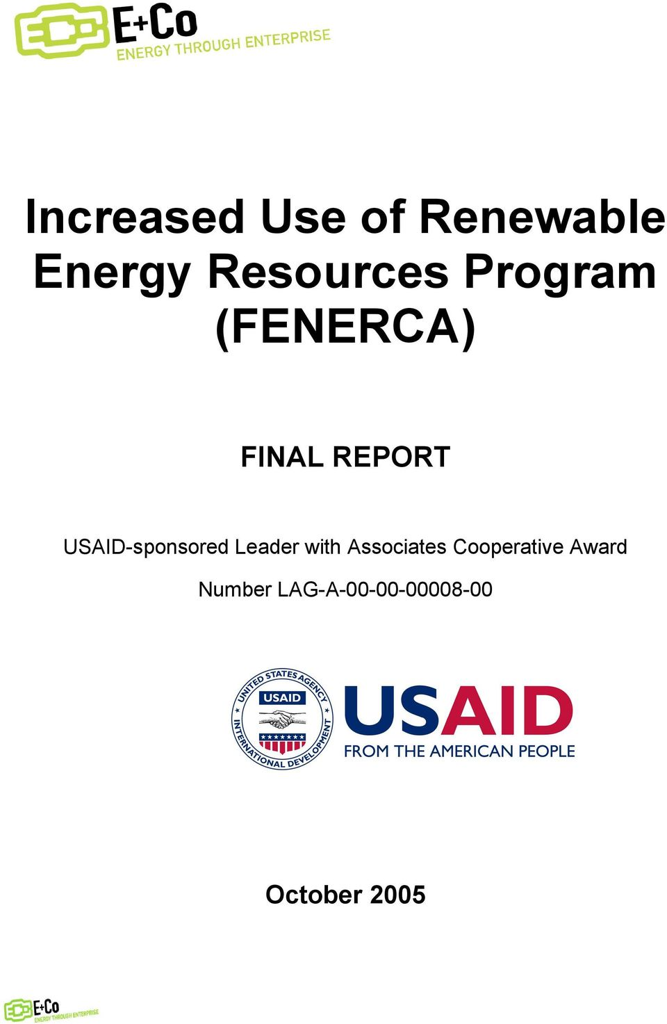 REPORT USAID-sponsored Leader with