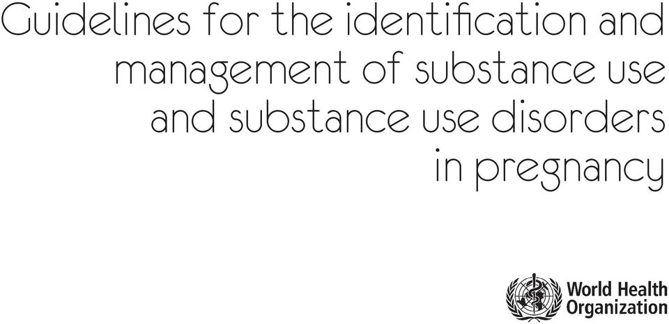 management of substance