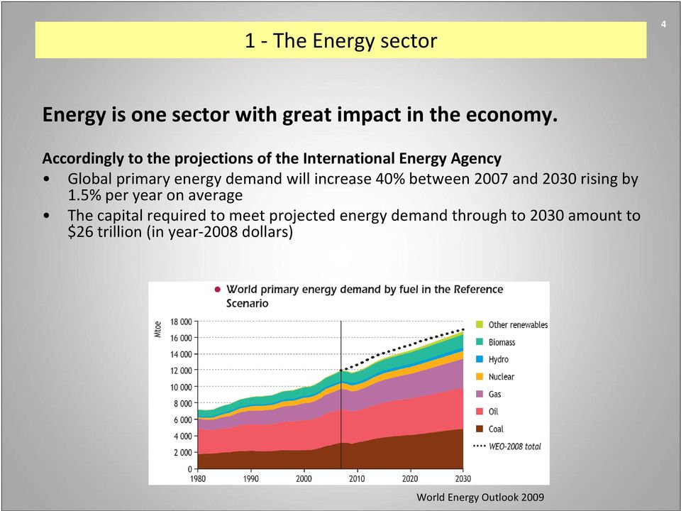 will increase 40% between 2007 and 2030 rising by 1.