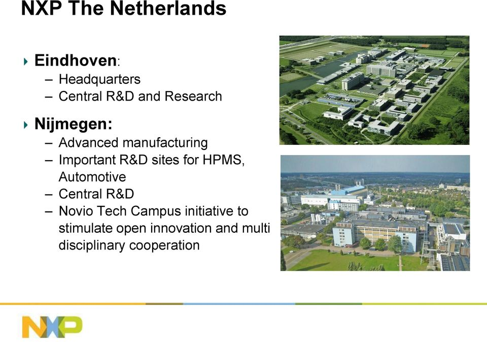 for HPMS, Automotive Central R&D Novio Tech Campus initiative