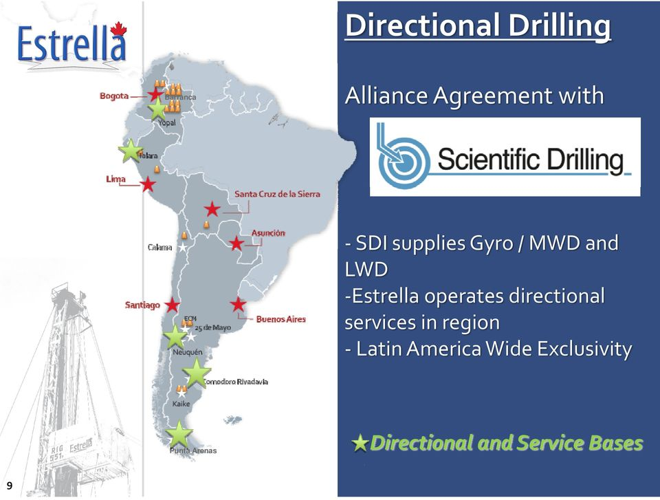 directional services in region Latin America Wide