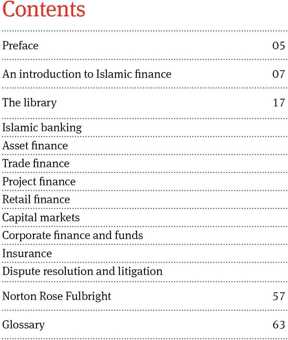 finance Retail finance Capital markets Corporate finance and funds