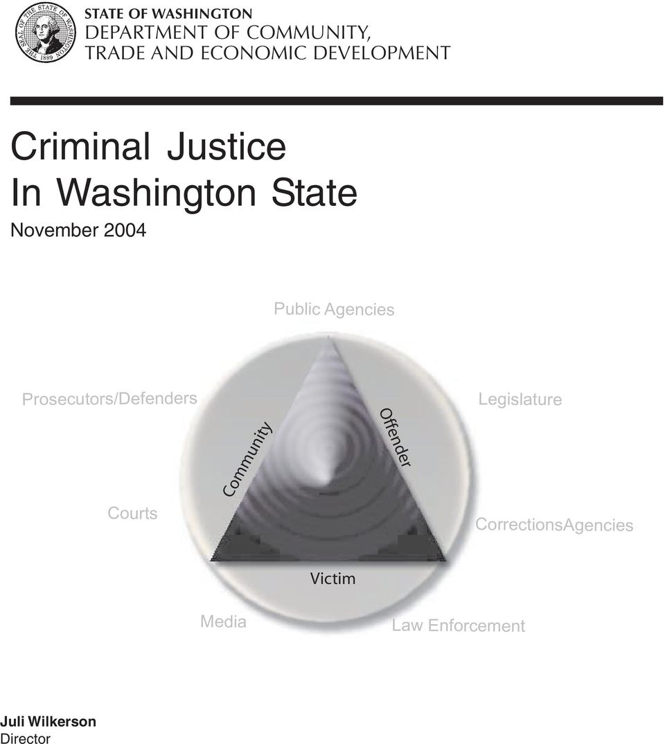 Public Agencies Prosecutors/Defenders Legislature Offender Courts