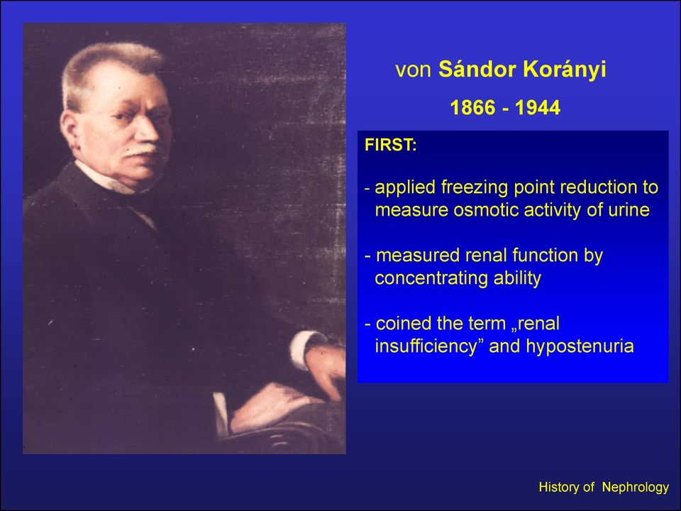 measured renal function by concentrating ability - coined