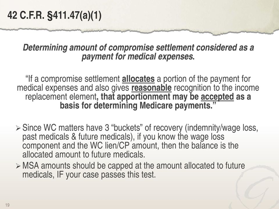apportionment may be accepted as a basis for determining Medicare payments.