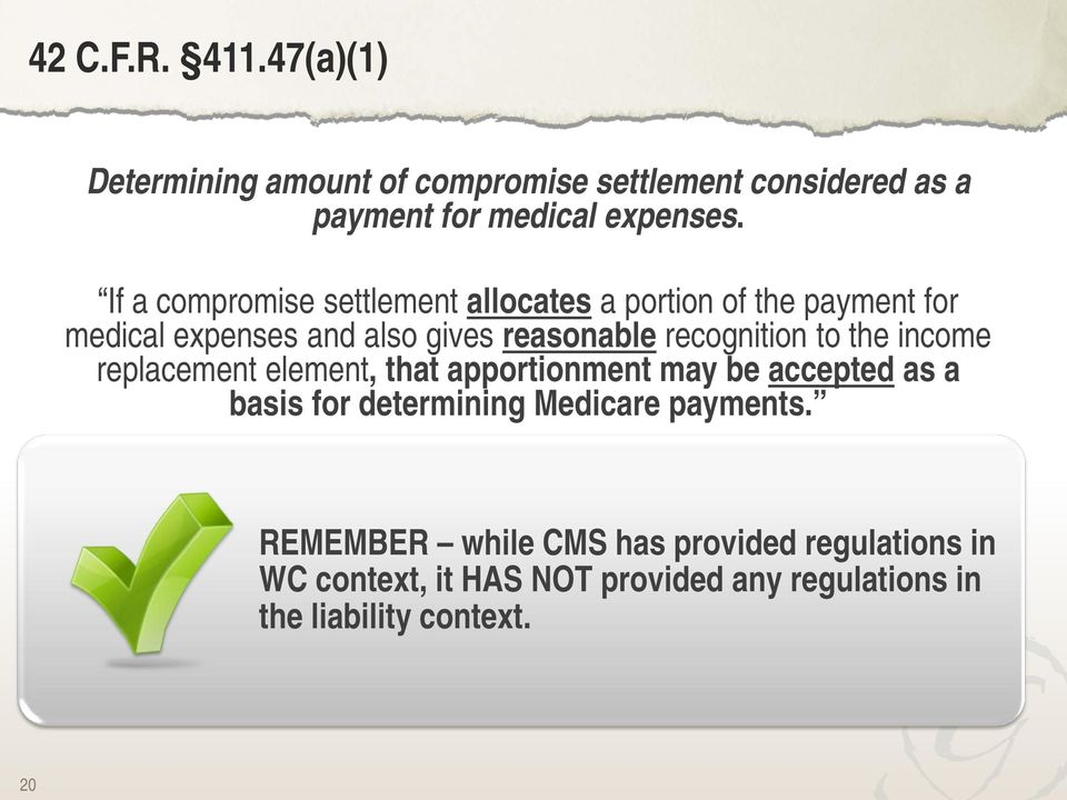basis for determining Medicare payments.