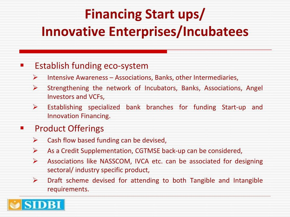 Innovation Financing.