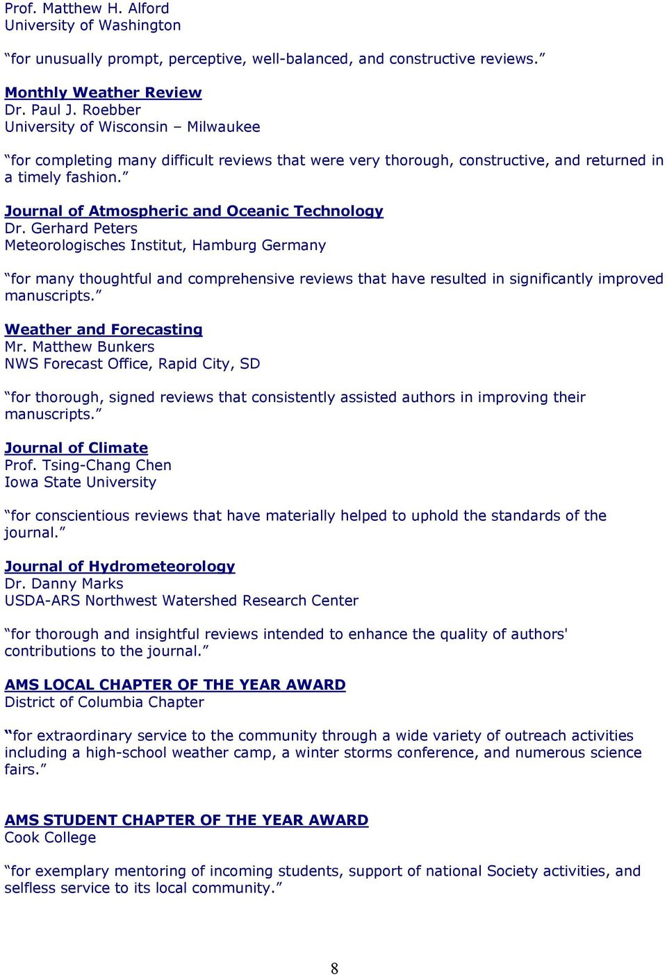 Journal of Atmospheric and Oceanic Technology Dr.