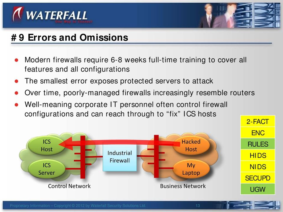 increasingly resemble routers Well-meaning corporate IT personnel often control firewall configurations and