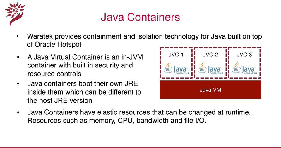 "their own JRE inside them which can be different to the host JRE version"" JVC-1"" JVC-2"" JVC-3"" Java VM"" Java"