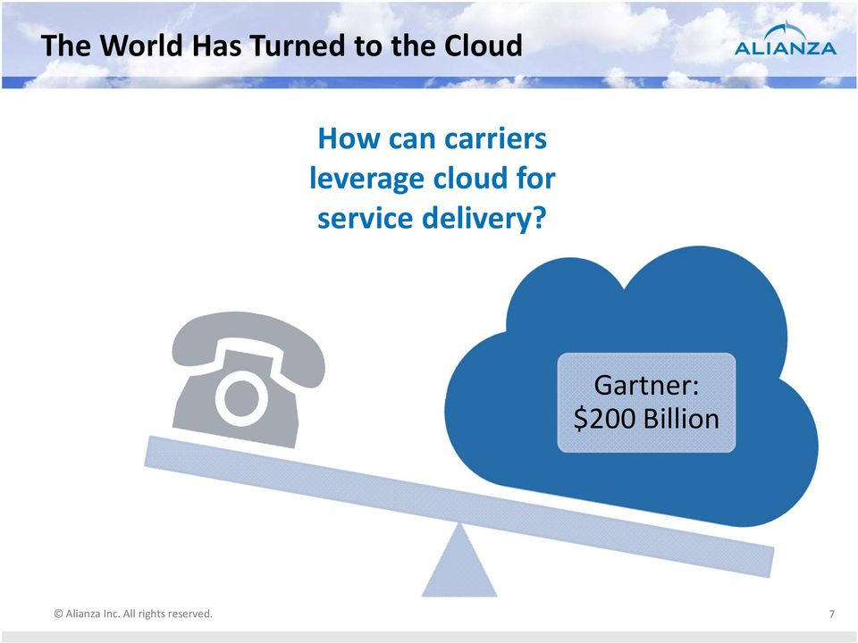 leverage cloud for service