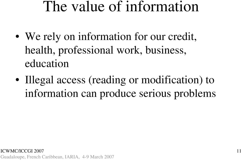 business, education Illegal access (reading or