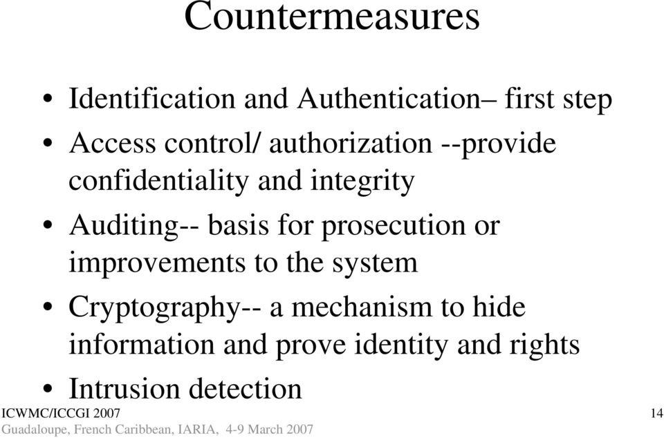 basis for prosecution or improvements to the system Cryptography-- a