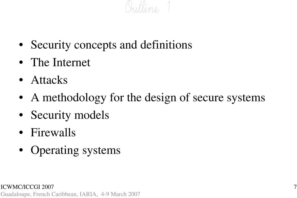 for the design of secure systems
