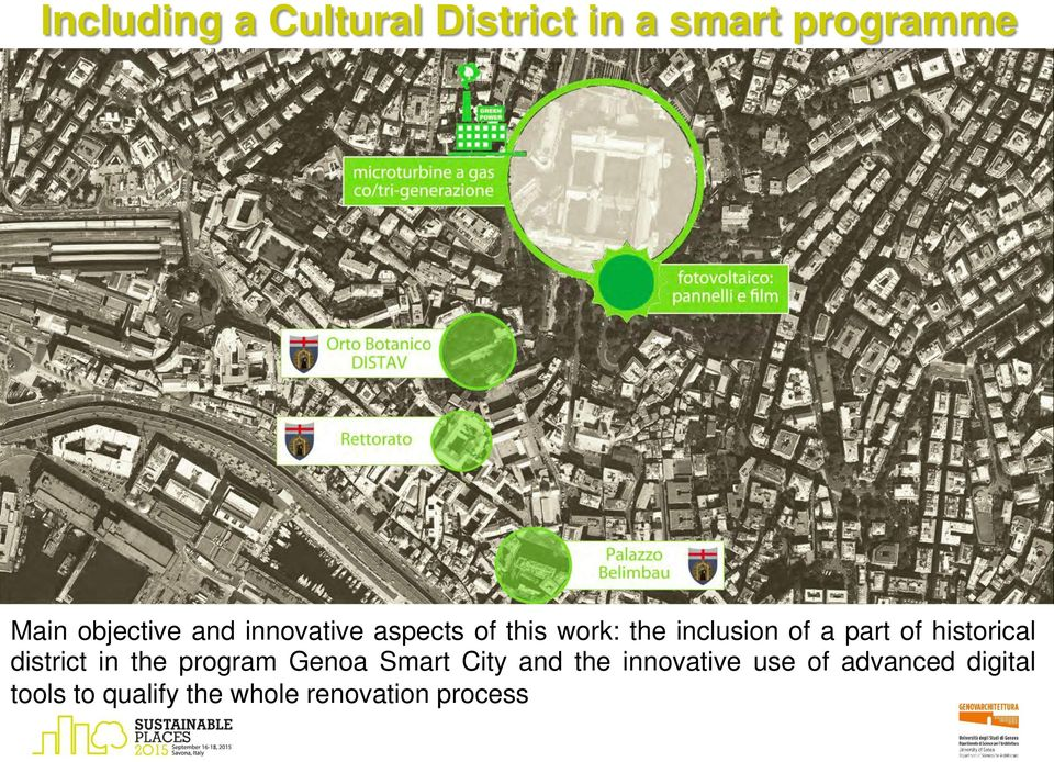 historical district in the program Genoa Smart City and the