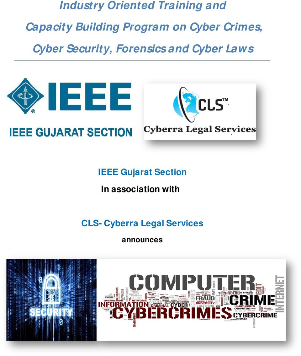 Forensics and Cyber Laws IEEE Gujarat Section In