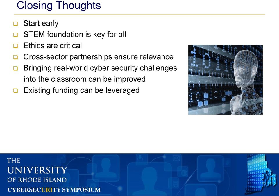 relevance Bringing real-world cyber security challenges