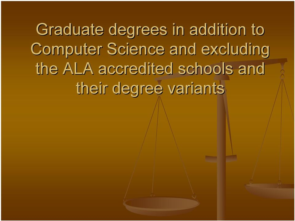 excluding the ALA accredited