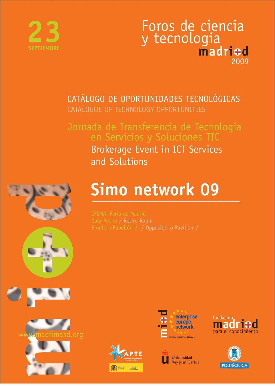 Brokerage Event in ICT Services and Solutions Simo network 09 IFEMA.