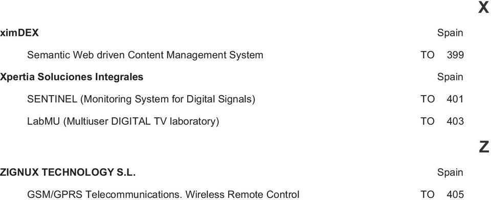 Digital Signals) TO 401 LabMU (Multiuser DIGITAL TV laboratory) TO 403 Z