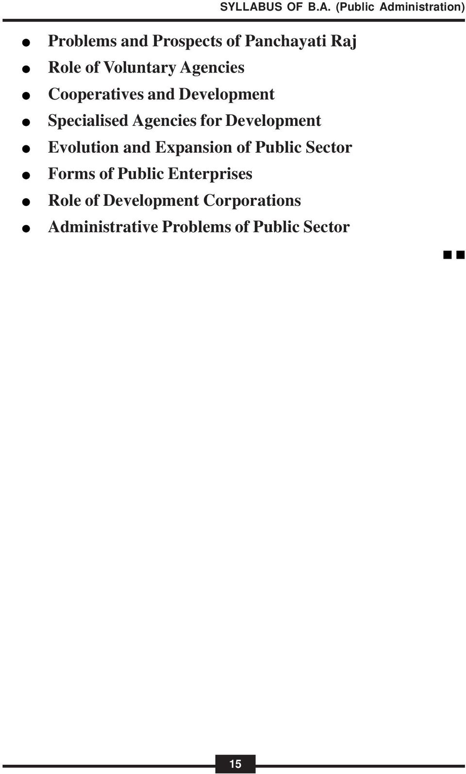 Evolution and Expansion of Public Sector Forms of Public Enterprises