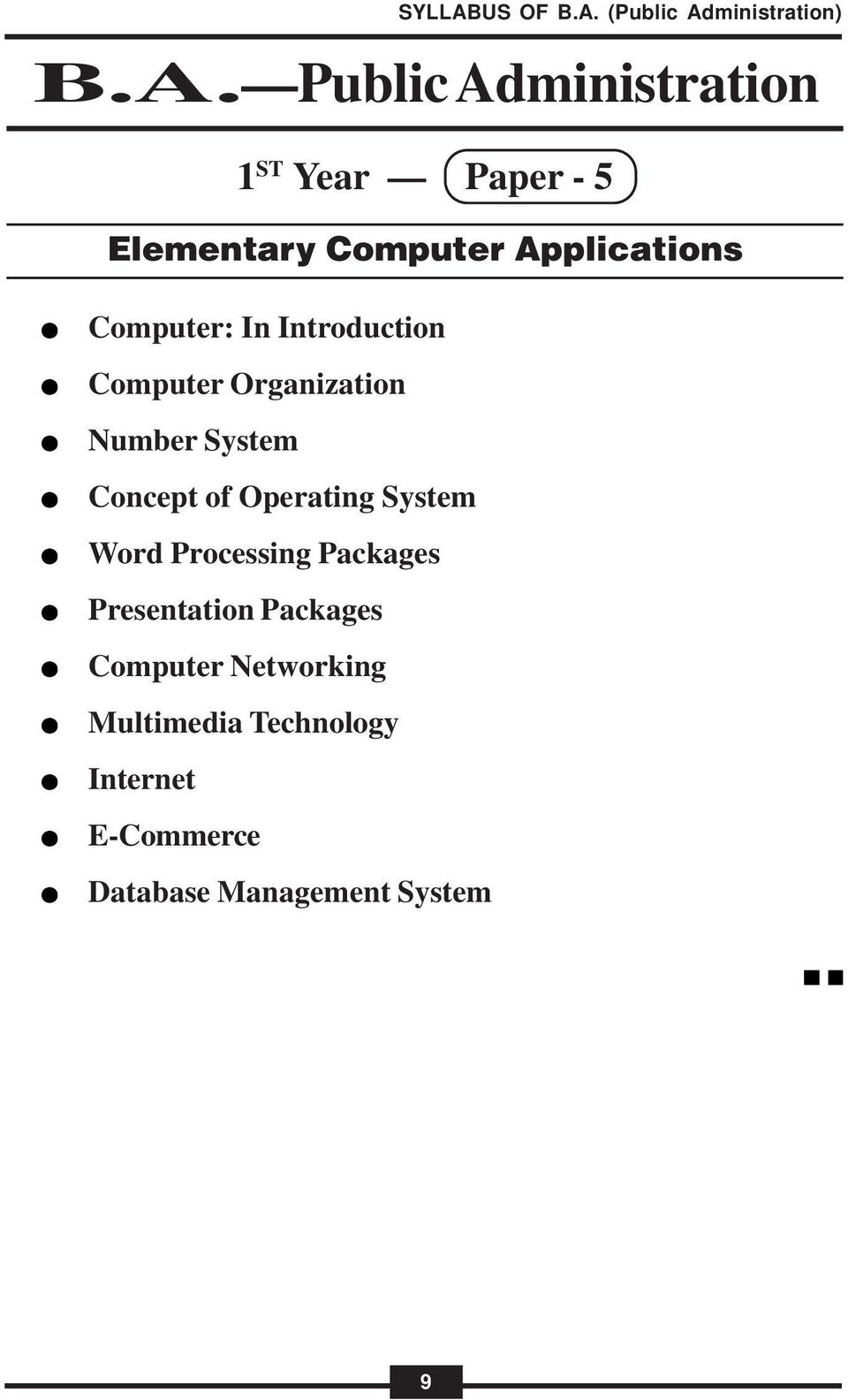 System Word Processing Packages Presentation Packages Computer