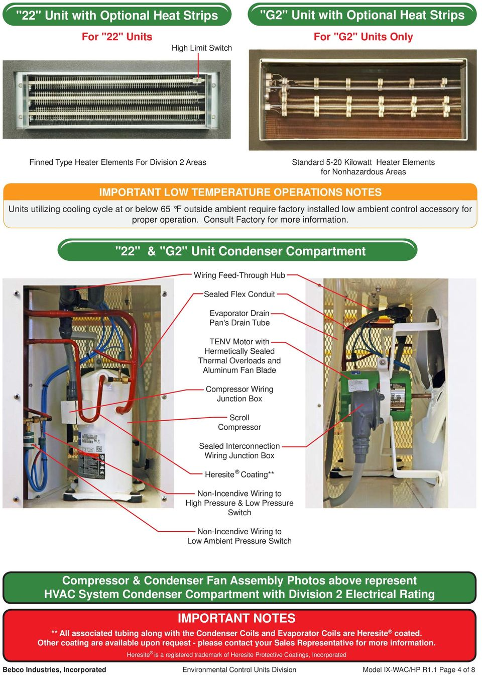 Model Ix Wac Hp Air Conditioners Heat Pumps For Highly Corrosive Heating Ac Wiring To Carrier Strips Accessory Proper Operation Consult Factory More Information
