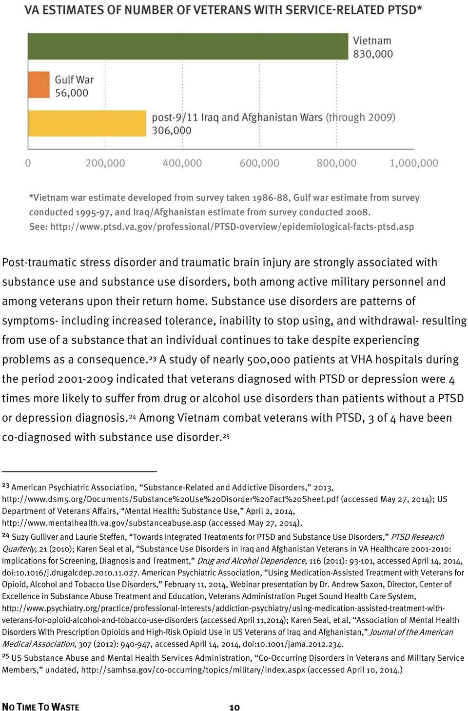 asp Post-traumatic stress disorder and traumatic brain injury are strongly associated with substance use and substance use disorders, both among active military personnel and among veterans upon