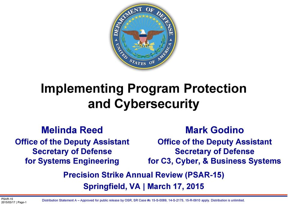 Office of the Deputy Assistant Secretary of Defense for C3, Cyber, & Business