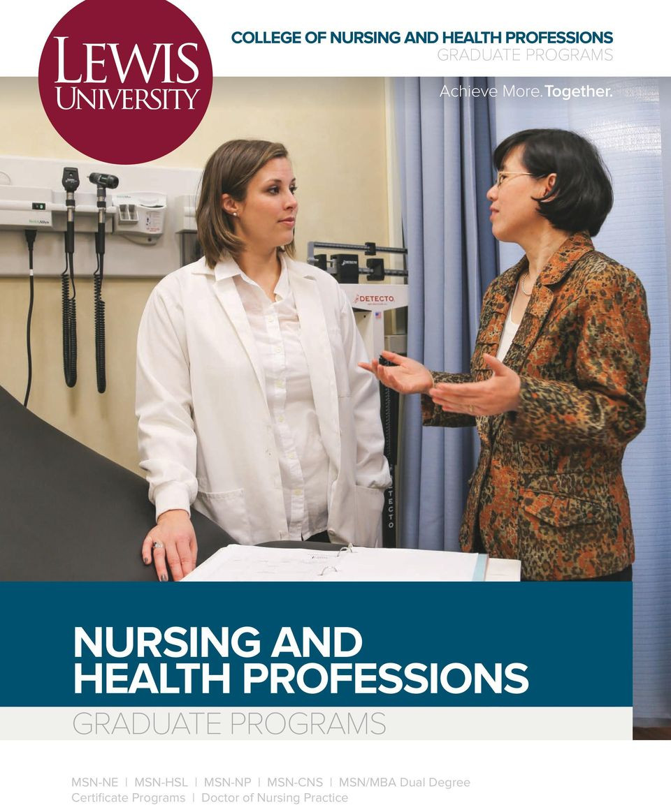 NURSING AND HEALTH PROFESSIONS GRADUATE PROGRAMS MSN-NE