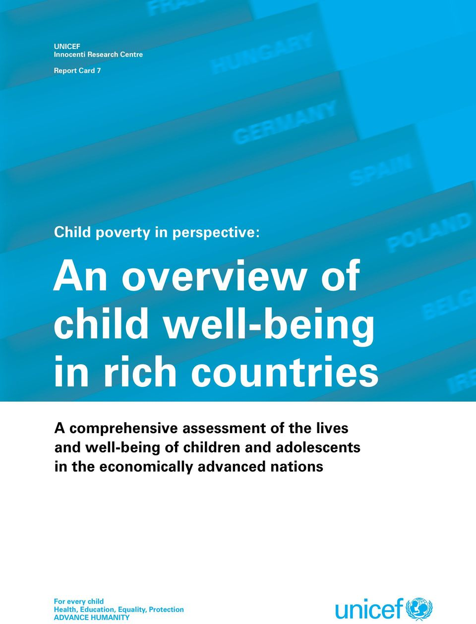 the lives and well-being of children and adolescents in the economically