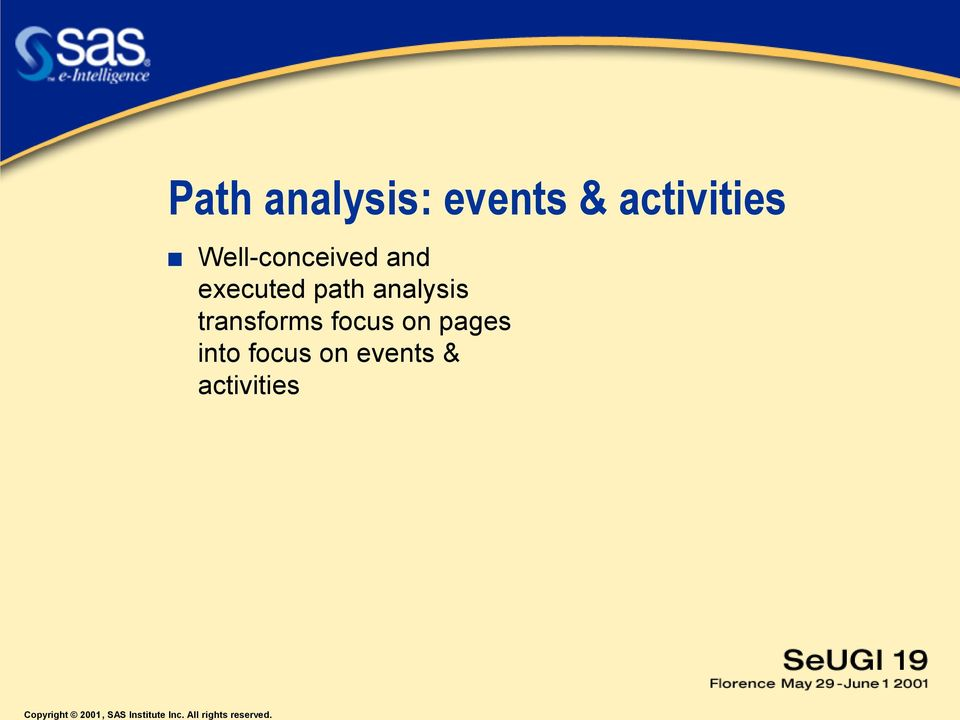 executed path analysis transforms