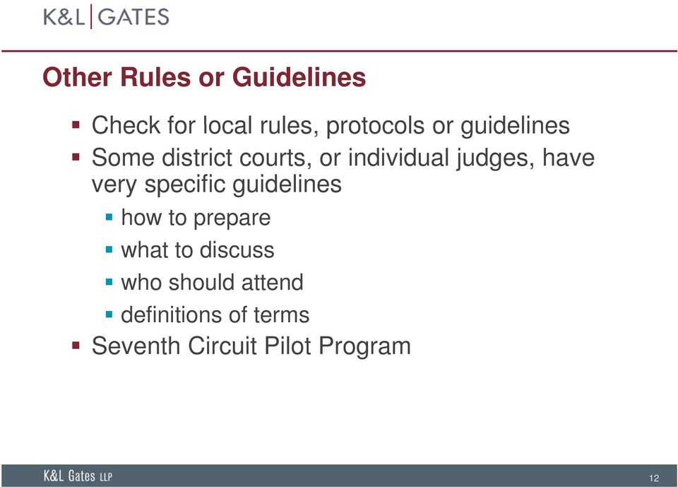 very specific guidelines how to prepare what to discuss who