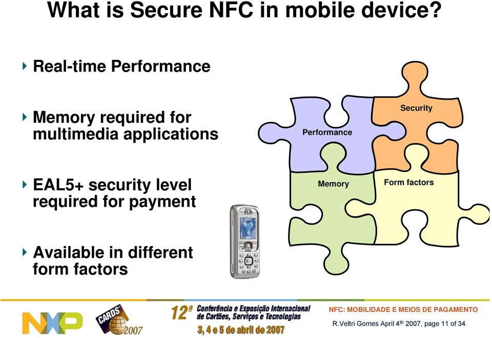 Performance Security EAL5+ security level required for payment