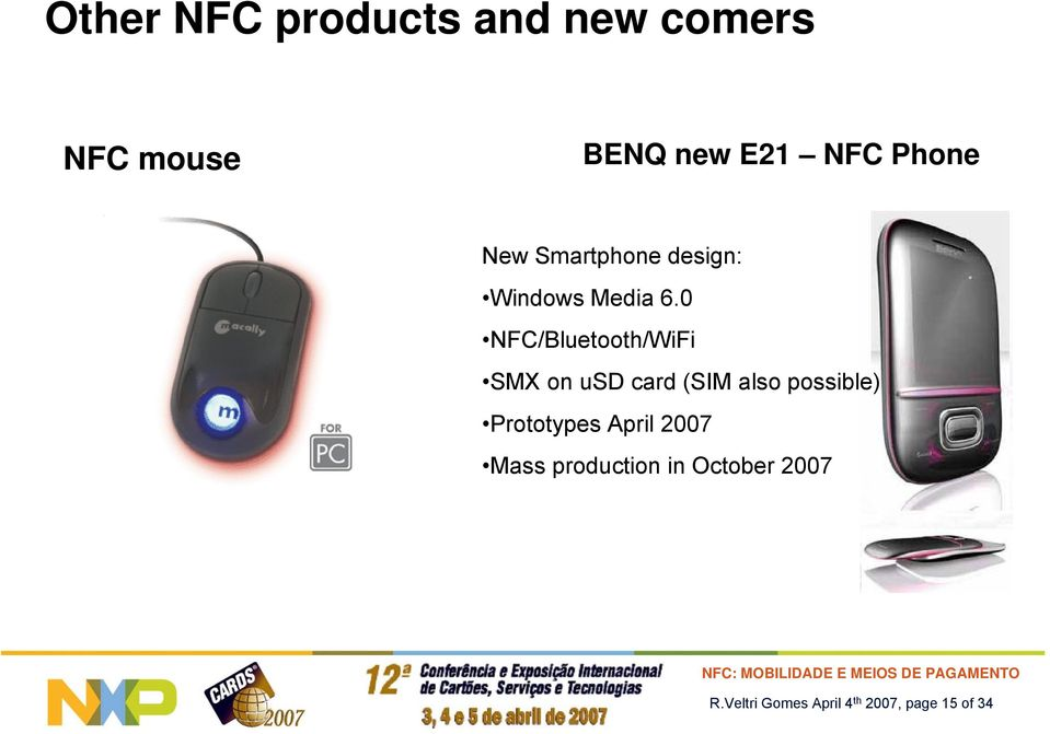 0 NFC/Bluetooth/WiFi SMX on usd card (SIM also possible)