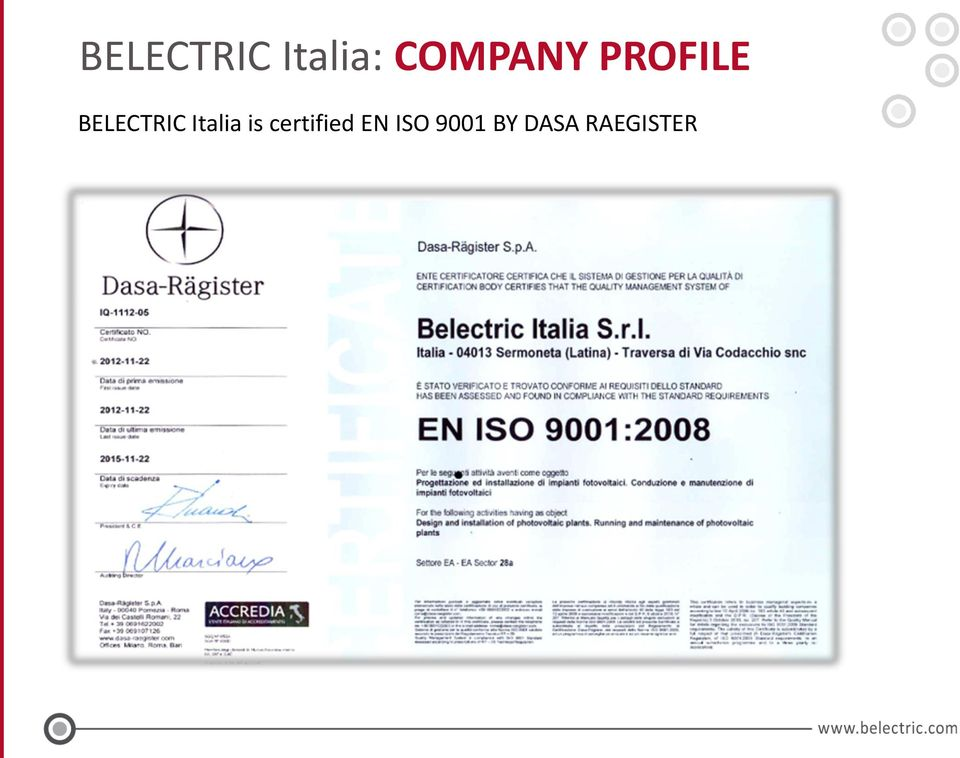BELECTRIC Italia is