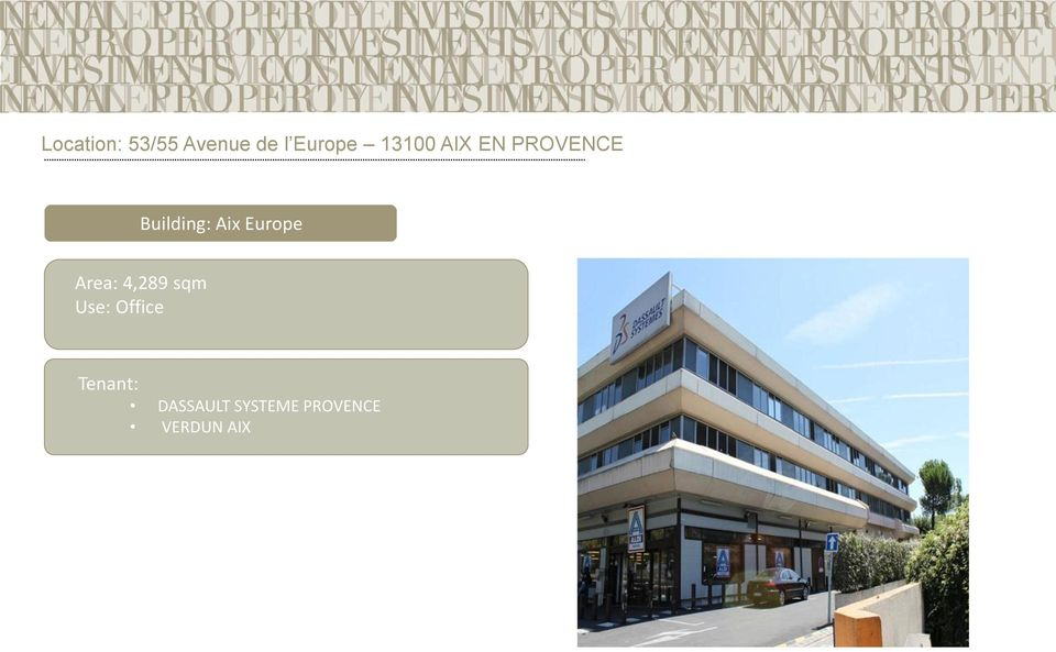 Building: Aix Europe Area: 4,289
