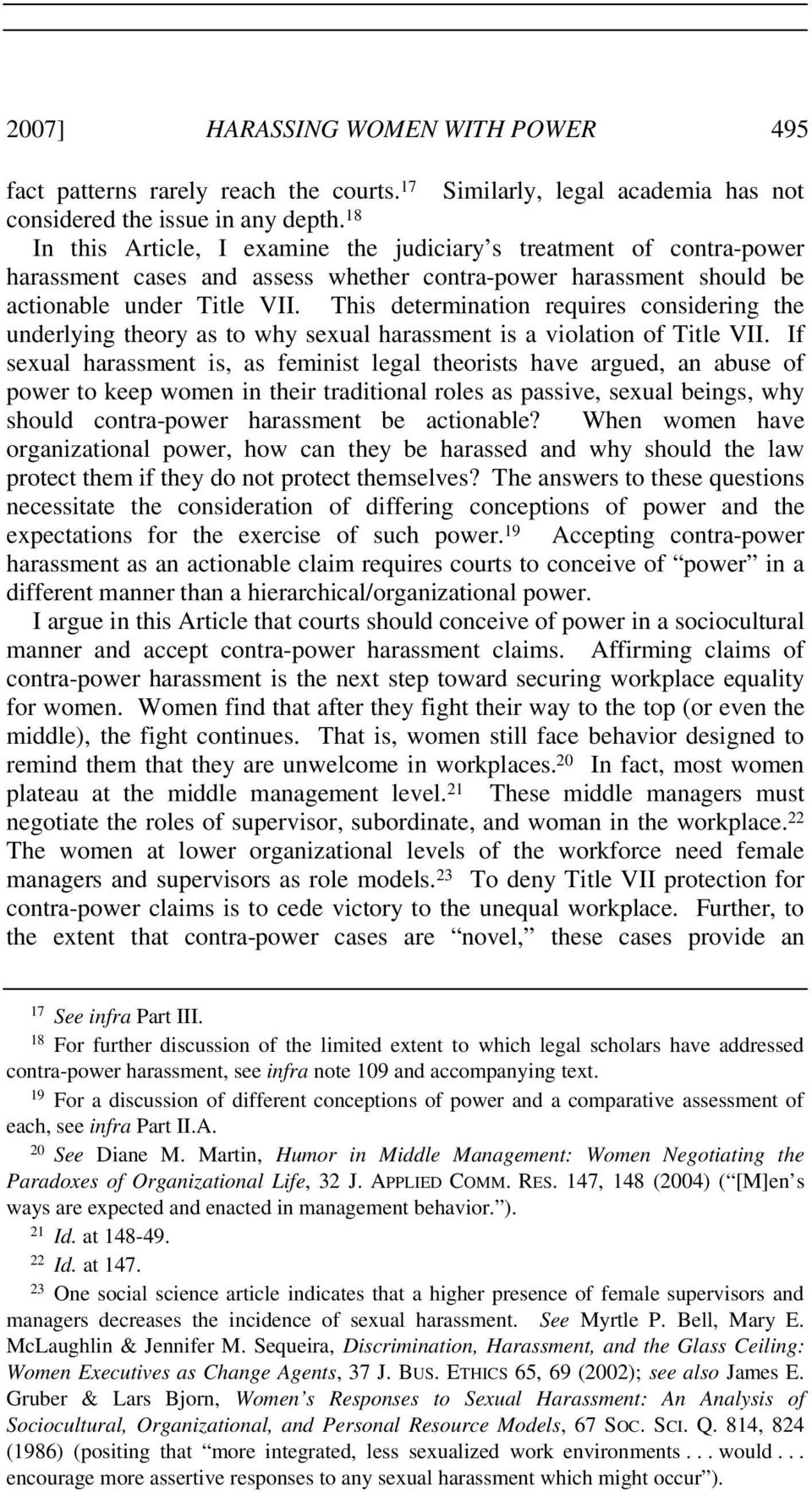 Section 709 c of title vii sexual harassment