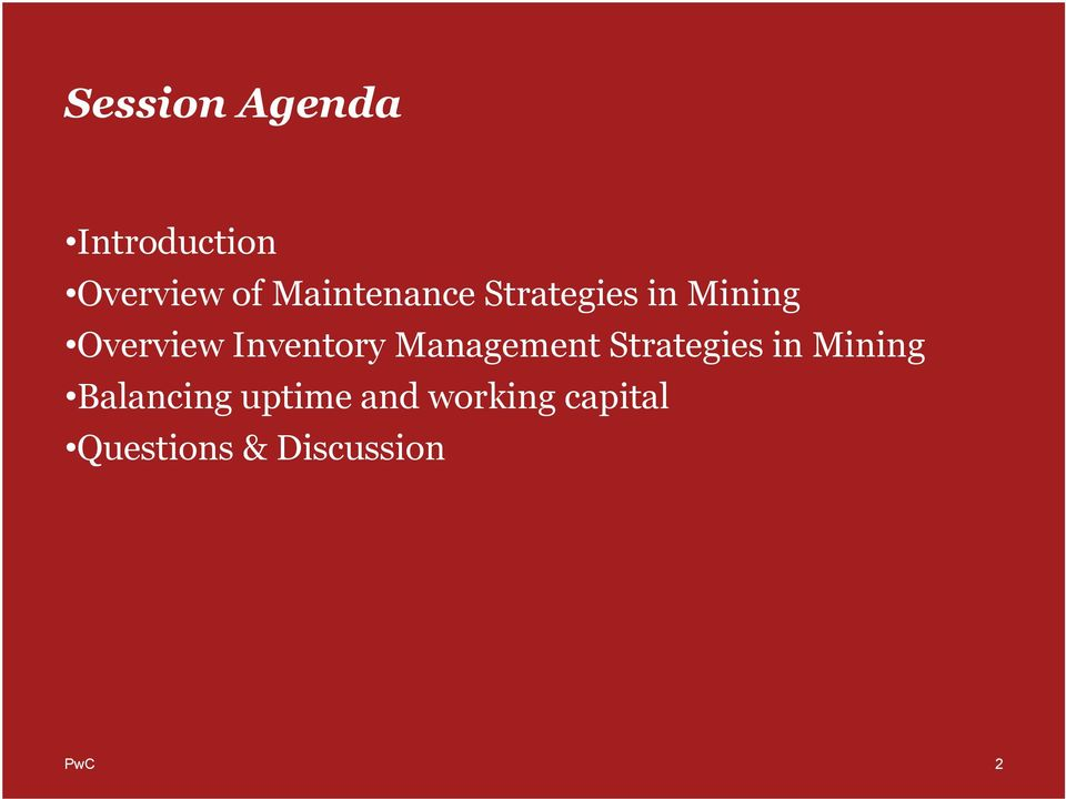 nventory Management Strategies in Mining
