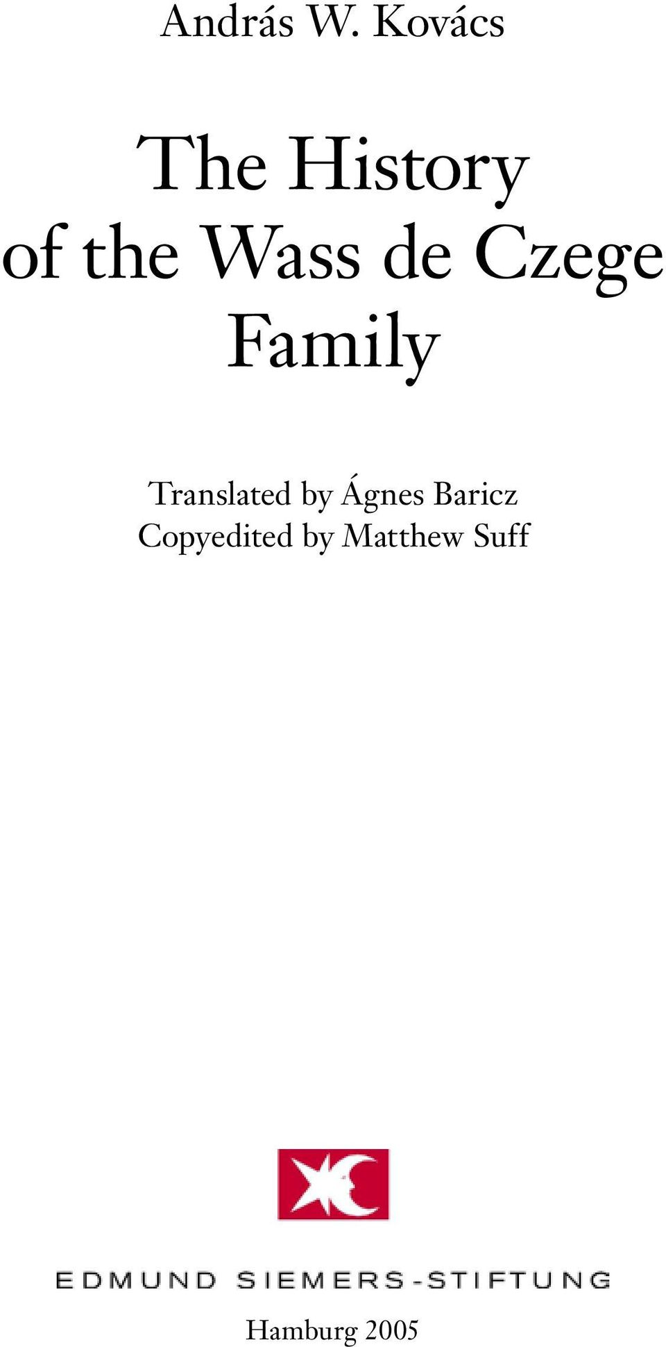 de Czege Family Translated by