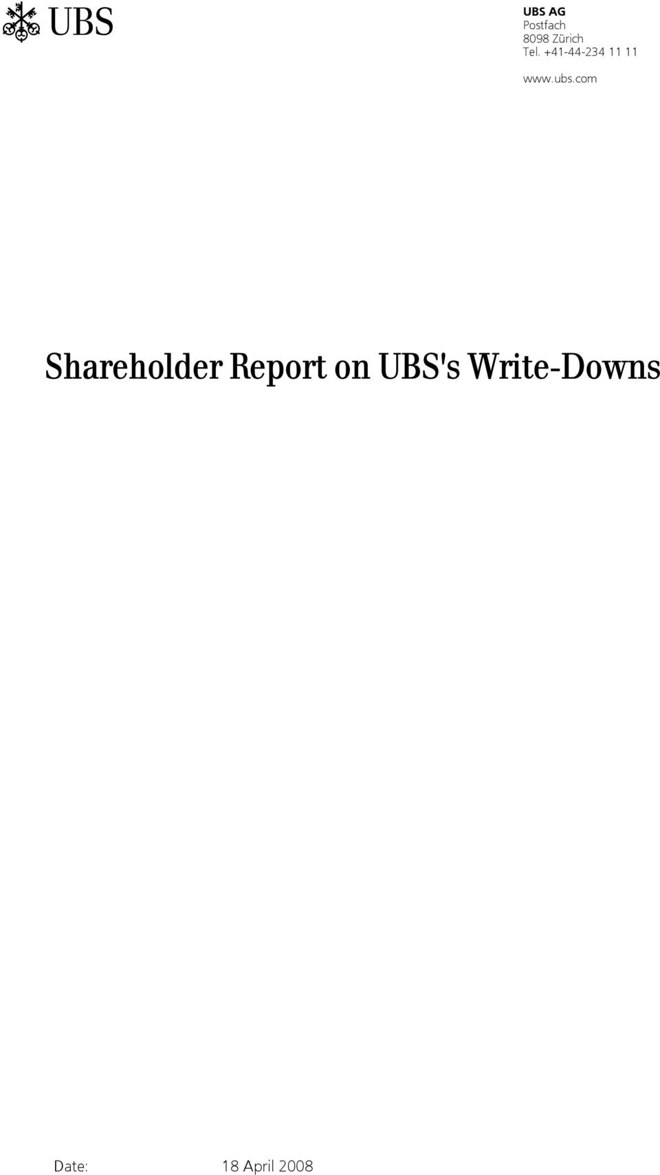 com Shareholder Report on