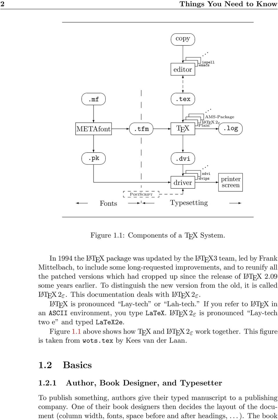 In 1994 the L A TEX package was updated by the L A TEX3 team, led by Frank Mittelbach, to include some long-requested improvements, and to reunify all the patched versions which had cropped up since