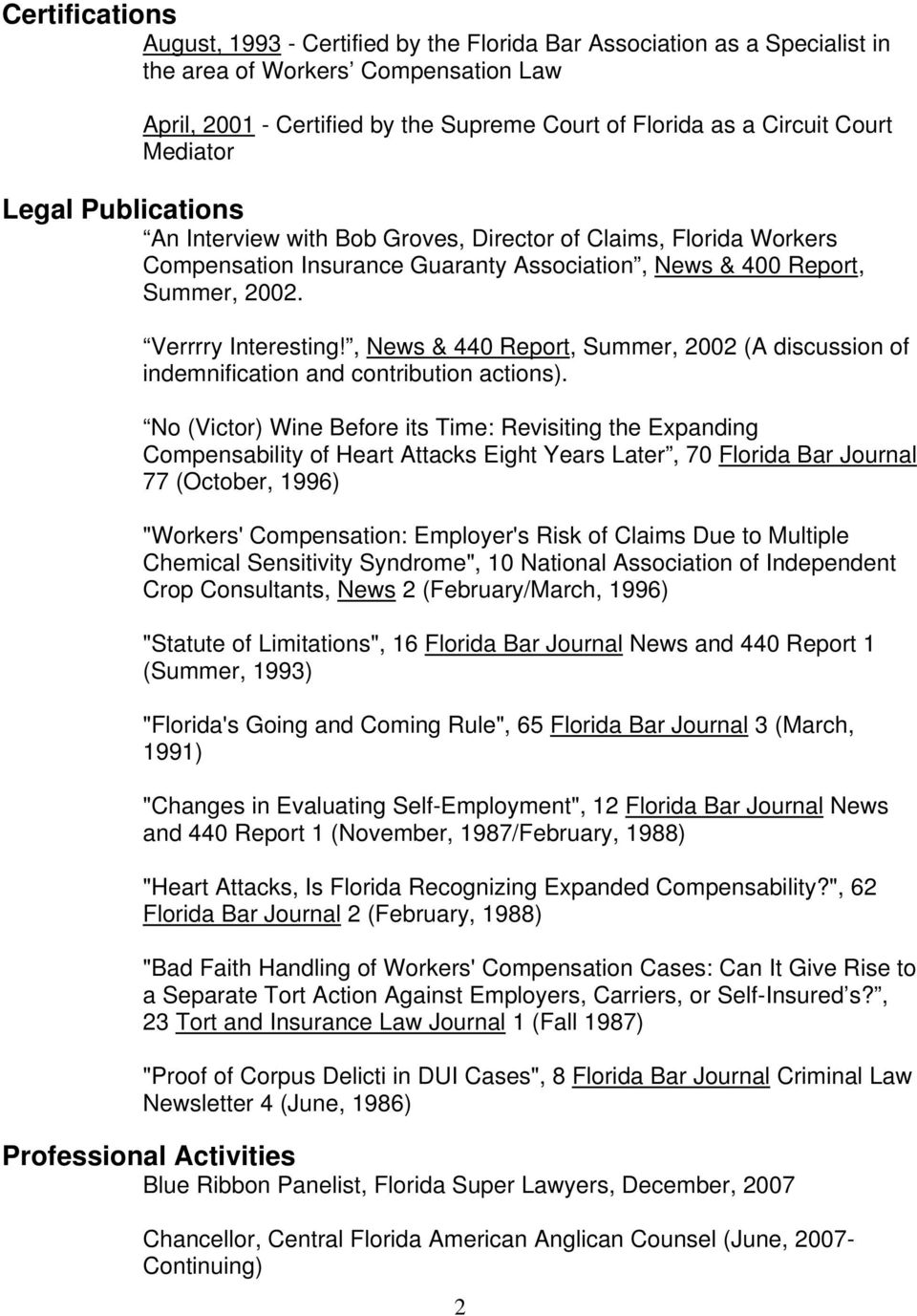 , News & 440 Report, Summer, 2002 (A discussion of indemnification and contribution actions).