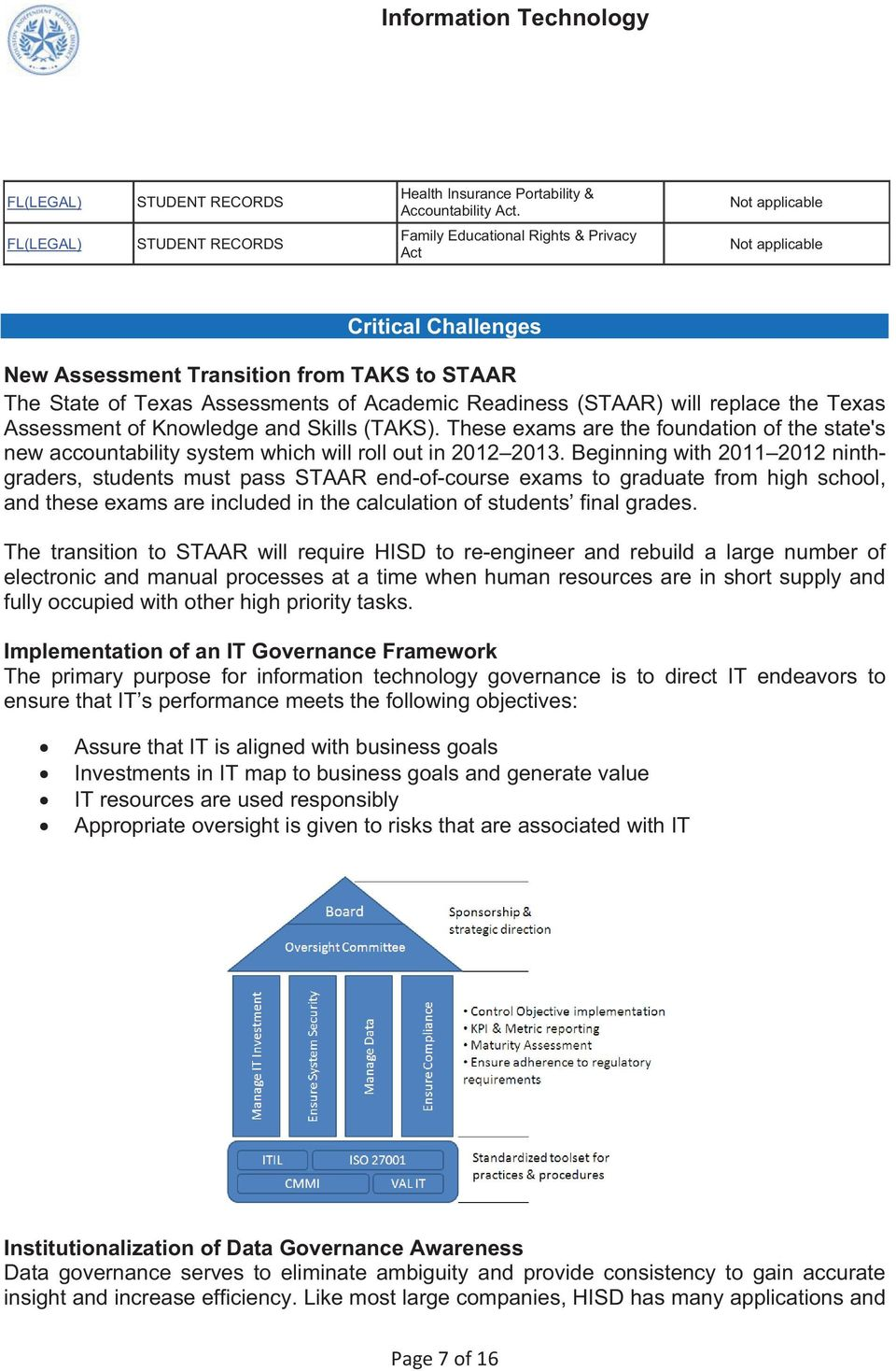 Academic Readiness (STAAR) will replace the Texas Assessment of Knowledge and Skills (TAKS). These exams are the foundation of the state's new accountability system which will roll out in 2012 2013.