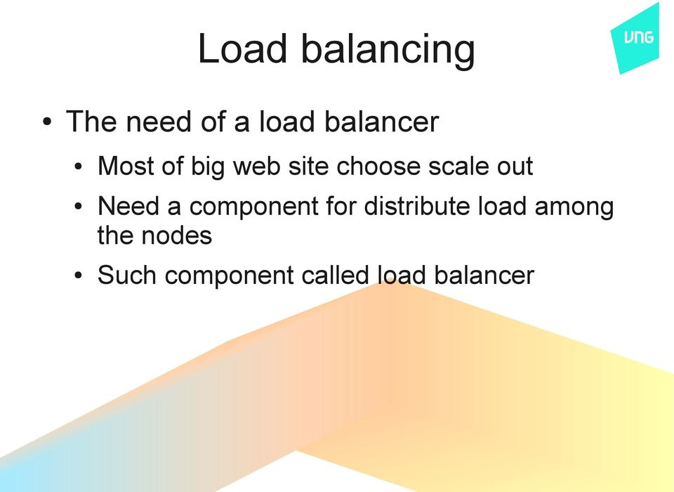 a component for distribute load among the