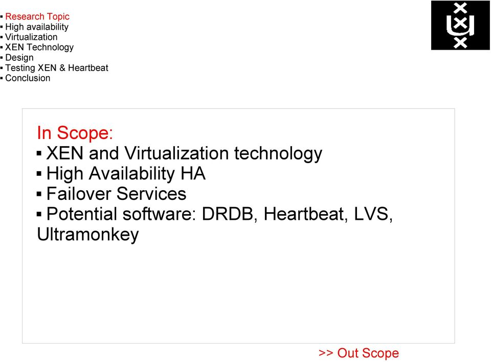 Potential software: DRDB,