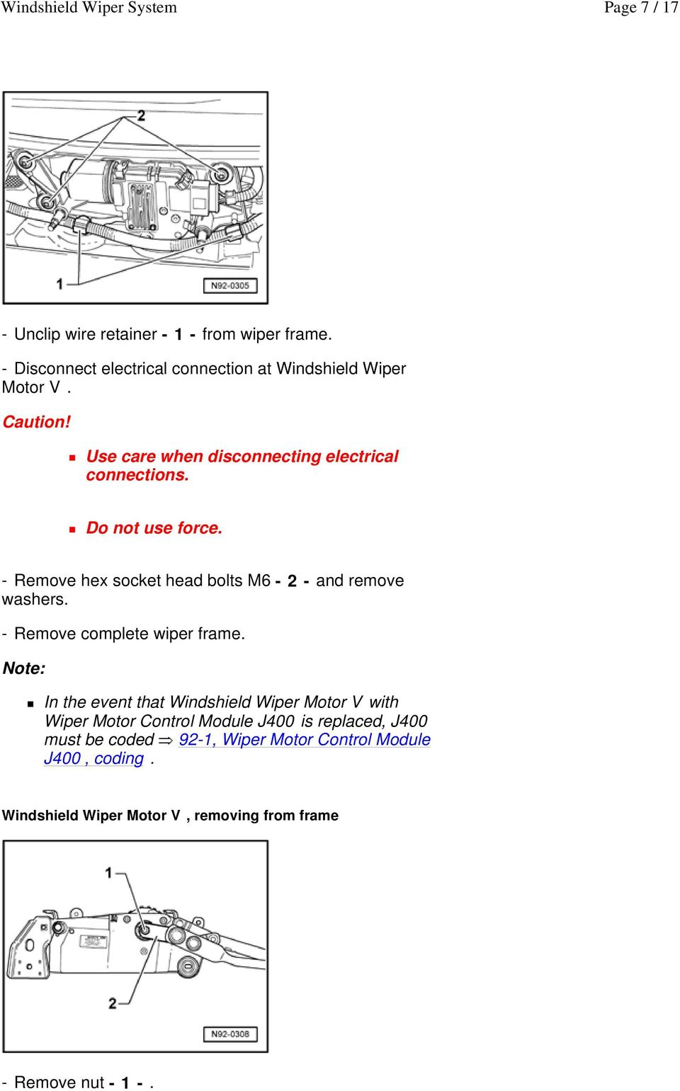 Wiper Motor Diagram 2006 Scion - Wiring Diagram