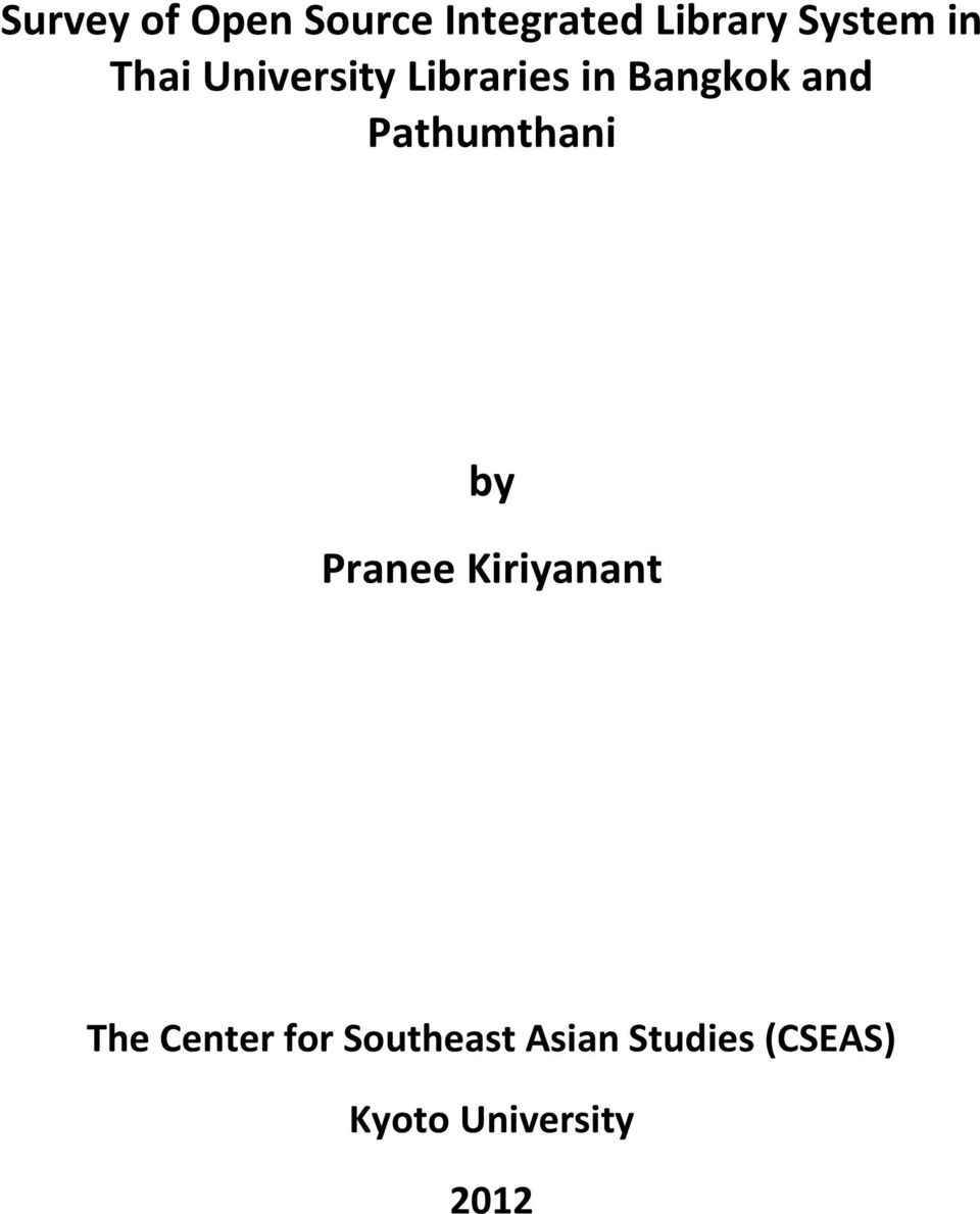 Pathumthani by Pranee Kiriyanant The Center for