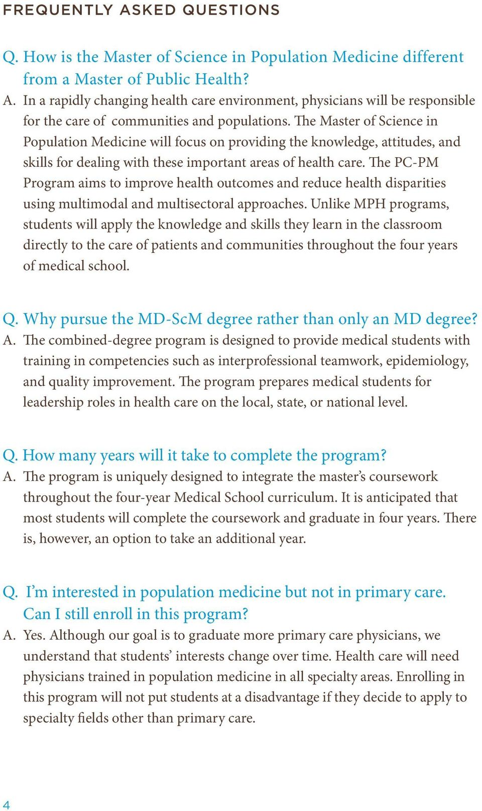 The PC-PM Program aims to improve health outcomes and reduce health disparities using multimodal and multisectoral approaches.